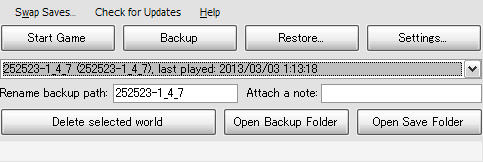 Minecraft Backup Assistant - main